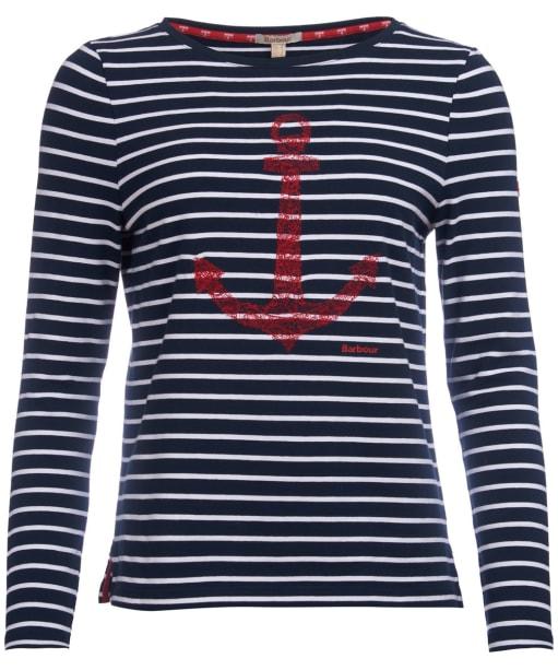 Women's Barbour Frinton Tee - Navy / White