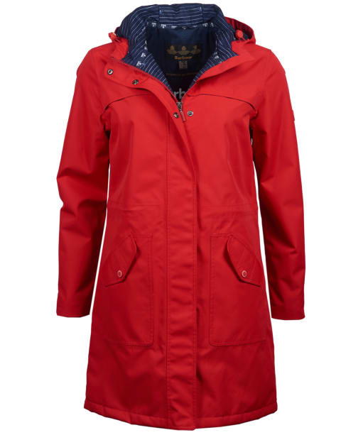 Women's Barbour Seafield Waterproof Jacket - Coastal Red