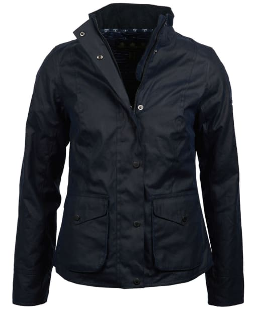 Women's Barbour Newquay Waxed Jacket - Royal Navy
