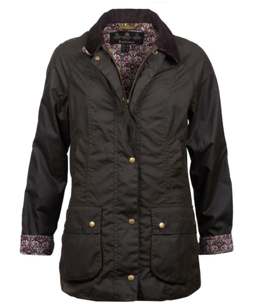 Women's Barbour Liberty Harriet Wax Jacket - Olive