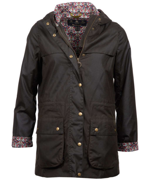 Women's Barbour Lillian Waxed Jacket - Olive