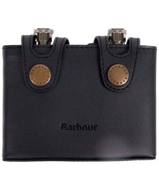 Men's Barbour Double Hipflask - Black