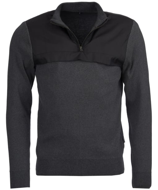 Men's Barbour Seabert Half Zip Sweater - Charcoal