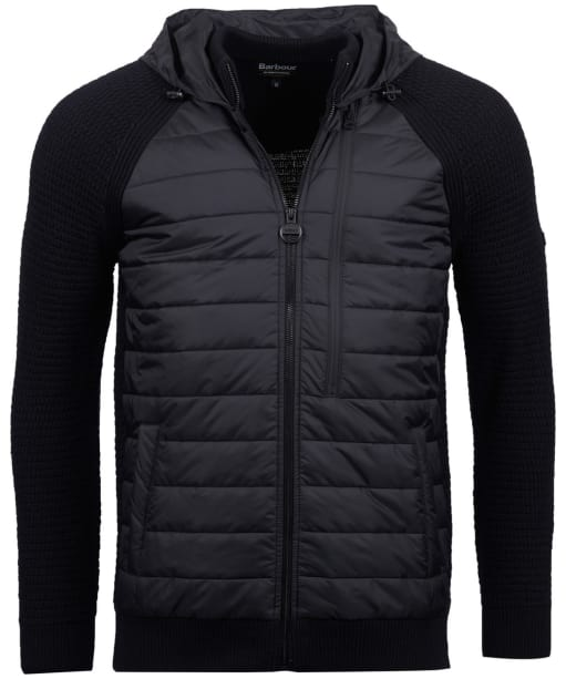 Men's Barbour International Hooded Sweater Jacket - Black