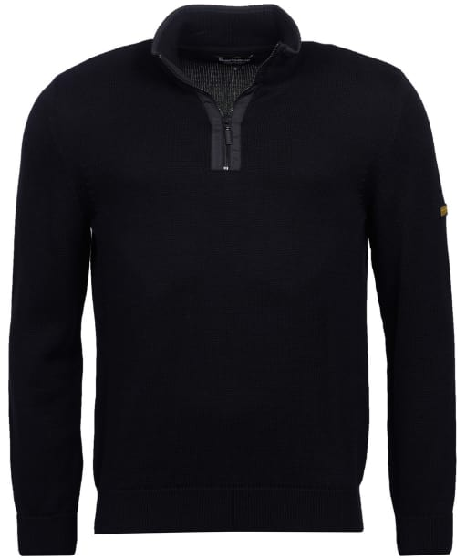 Men's Barbour International Trap Half Zip Knit - Black