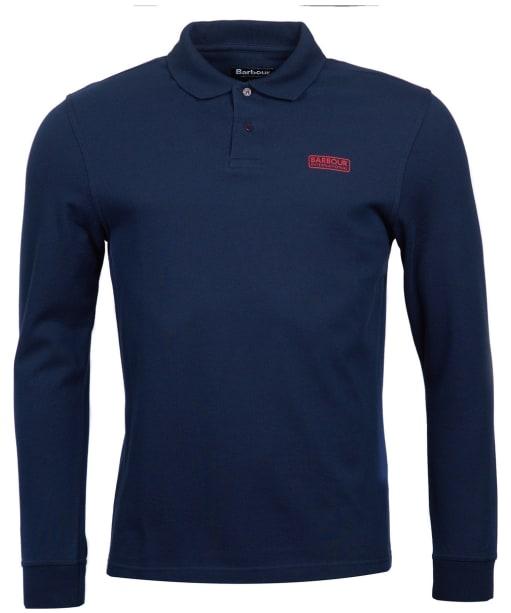 Men's Barbour International Long Sleeve Polo Shirt - Navy