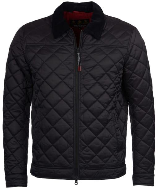 Men's Barbour Trough Quilted Jacket - Black