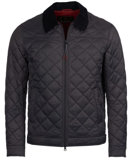 Men's Barbour Trough Quilted Jacket - Charcoal