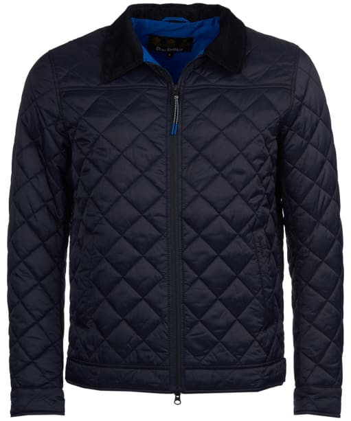 Men's Barbour Trough Quilted Jacket - Navy