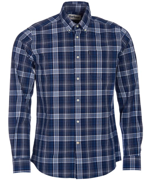 Men's Barbour Stapleton Oxford Check Shirt - Navy