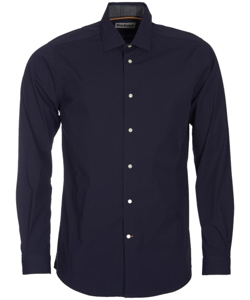 Men's Barbour Highfield Stretch Poplin Shirt - Midnight Blue