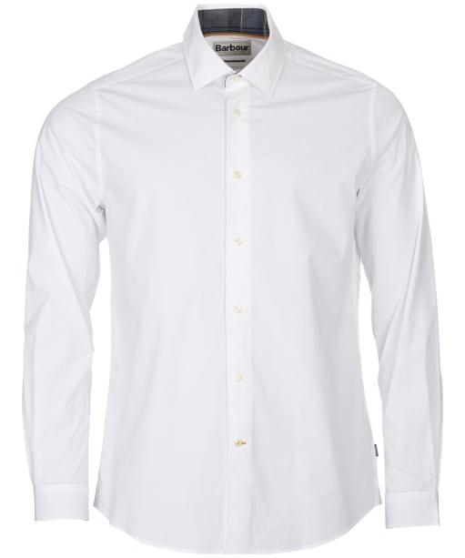 Men's Barbour Highfield Stretch Poplin Shirt - White
