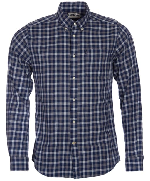 Men's Barbour Endsleigh Twill Tattersall Shirt - Navy