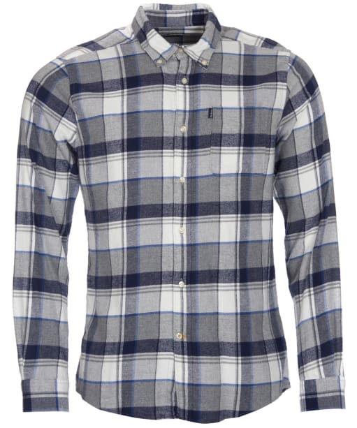 Men's Barbour Endsleigh Twill Check Shirt - Grey Marl