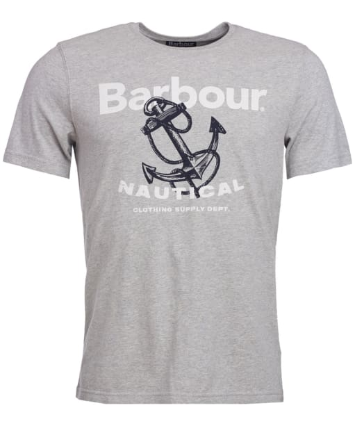 Men's Barbour Anchor Tee - Grey Marl