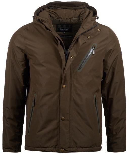 Men's Barbour International Core Waterproof Jacket - Dark Olive