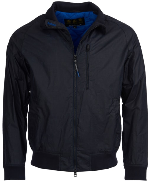 Men's Barbour Dew Wax Jacket - Royal Navy
