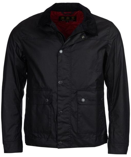 Men's Barbour Kelvin Wax Jacket - Black