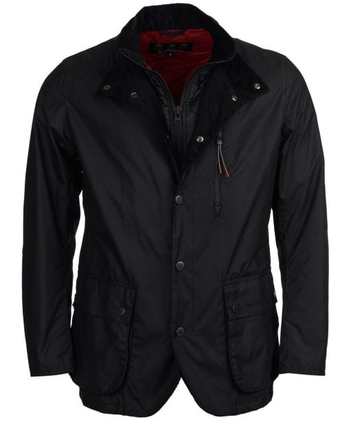 Men's Barbour Surge Waxed Jacket - Black