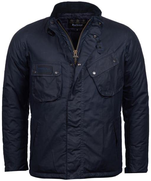 Men's Barbour International Lever Wax Jacket - Royal Navy