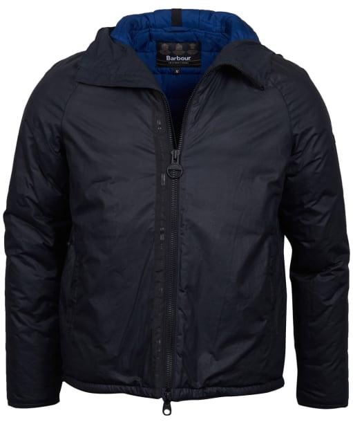 Men's Barbour International Belt Waxed Jacket - Royal Navy