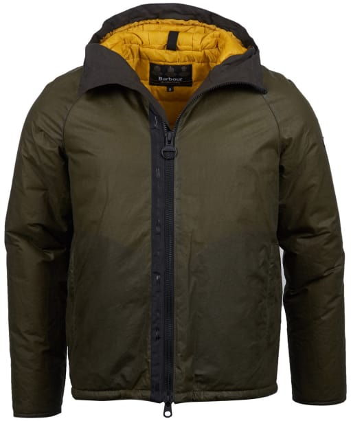 Men's Barbour International Belt Waxed Jacket - Archive Olive