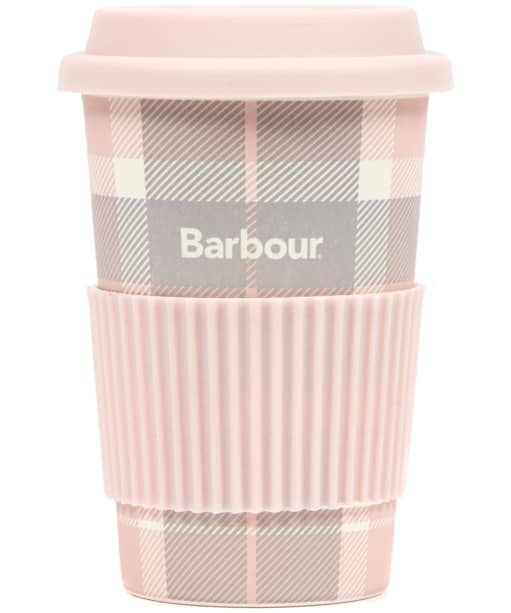 Women's Barbour Tartan Travel Mug - Pink / Grey Tartan