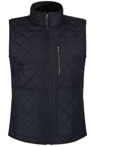 Men's Joules Halesworth Quilted Gilet - Marine Navy