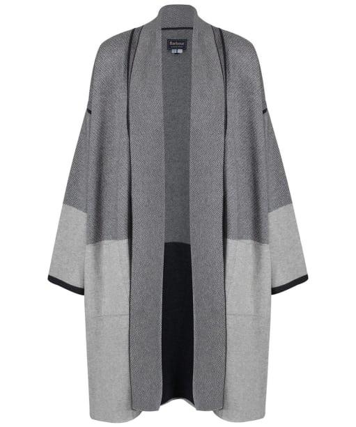 Women's Barbour Deveron Knit Cardigan - Pale Grey Marl / Anthracite