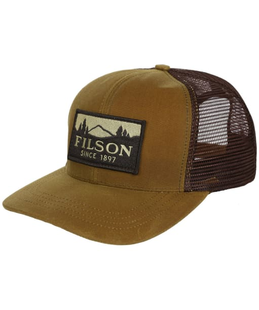 Men's Filson Logger Mesh Cap - Dark Tan