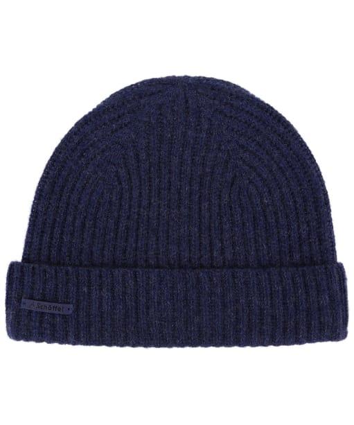 Women's Schöffel Cashmere Beanie Hat - Indigo