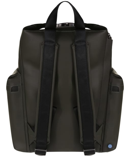 Hunter Original Large Top Clip Backpack - Rubberised Leather - Dark Olive