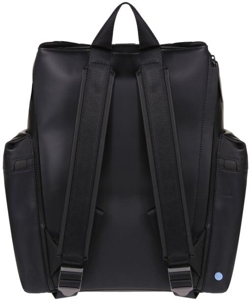 Hunter Original Large Top Clip Backpack - Rubberised Leather - Black