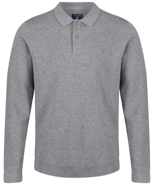 Men's GANT Honeycomb Sweatshirt - Grey Melange
