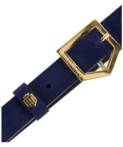Women's Fairfax & Favor Sennowe Belt - Navy Blue Suede