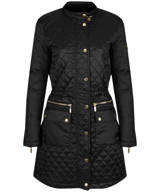 Women's Barbour International Port Gower Quilted Jacket - Black