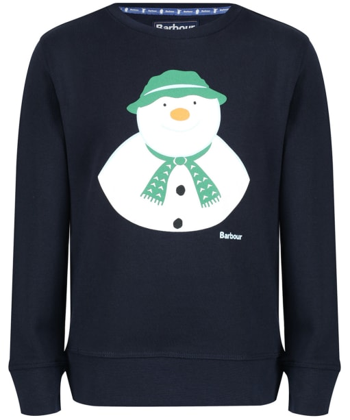 Barbour Kids 'The Snowman™' Howard Top, 2-9yrs - Navy