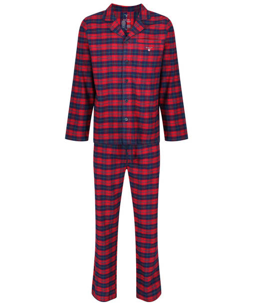 Men's GANT Brushed Flannel Pyjama Gift Box - Red