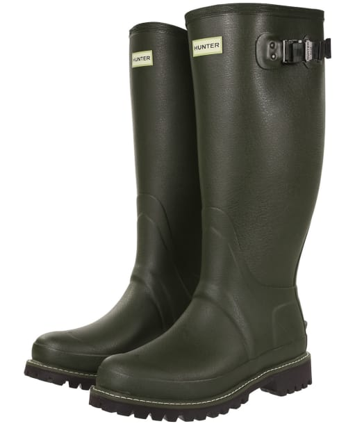 Men's Hunter Field Balmoral Wide Fit Wellington Boots - Dark Olive