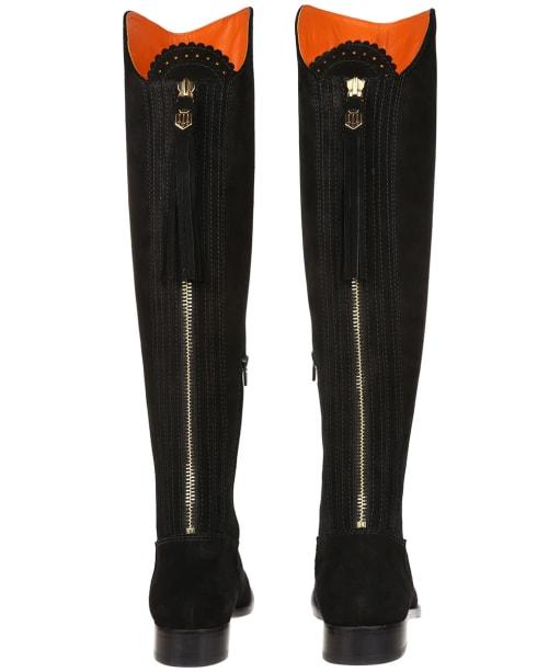 Women's Fairfax & Favor Flat Amira Boots - Black Suede