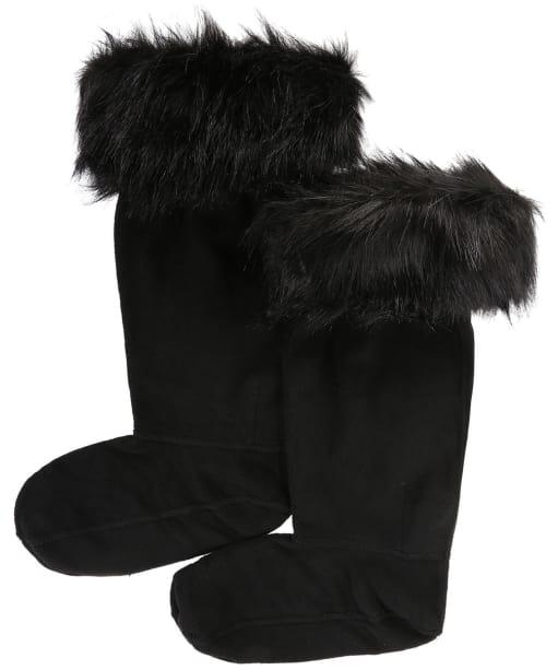 Hunter Original Faux Fur Cuff Boot Socks - Black
