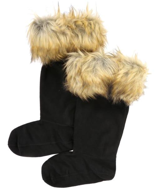 Hunter Original Faux Fur Cuff Boot Socks - Tawny Brown