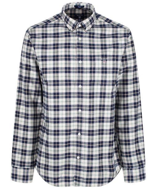 Men's GANT Brushed Oxford Plaid Shirt - Putty