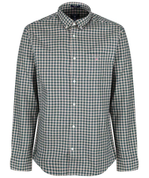 Men's GANT Oxford Check Shirt - Putty