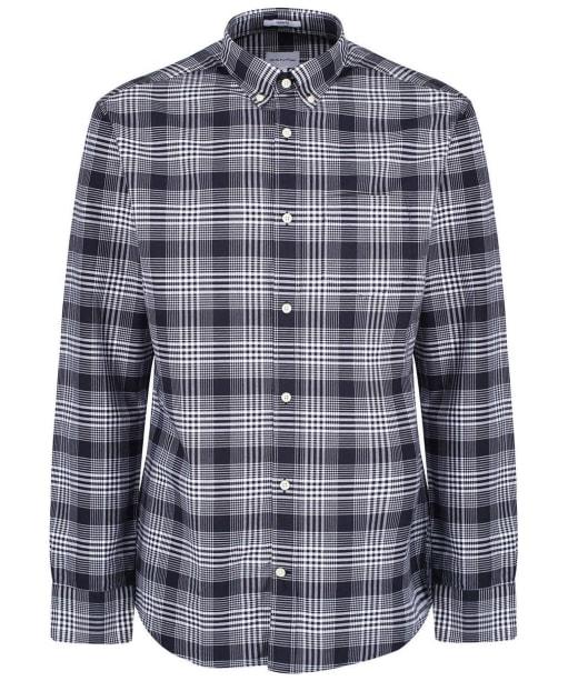 Men's GANT Regular Heavy Check Shirt - Evening Blue