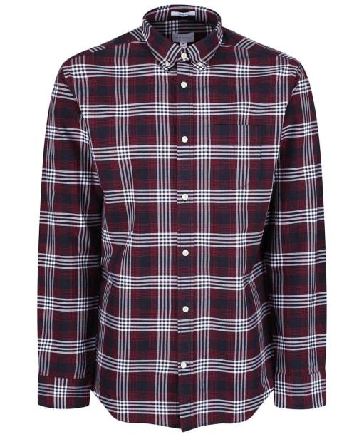 Men's GANT Regular Heavy Check Shirt - Mahogany Red