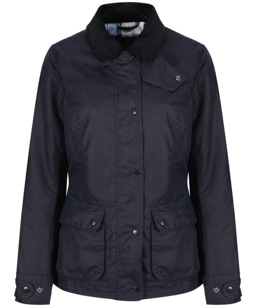 Women's Barbour Arkaig Waxed Jacket - Royal Navy