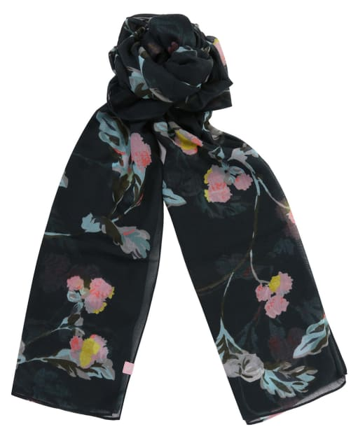 Women's Joules Wensley Scarf - Black All Over Floral