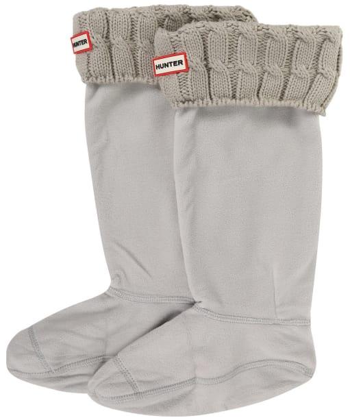 Hunter Original Six-Stitch Cable Boot Socks - Greige
