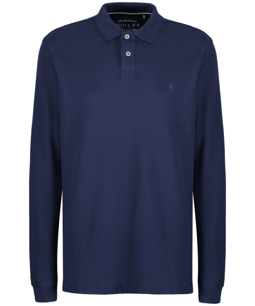 Men's Joules Woodwell Long Sleeved Polo Shirt - French Navy